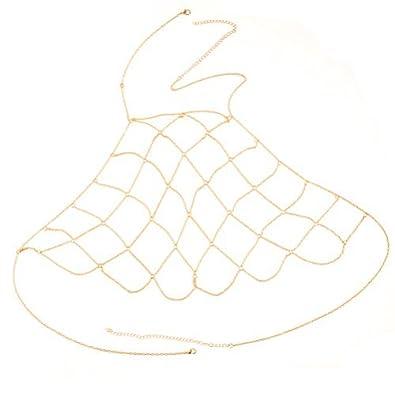 LUOEM Frauen Sexy Bikini BH Kette Körperkette für Kleid Dekoration