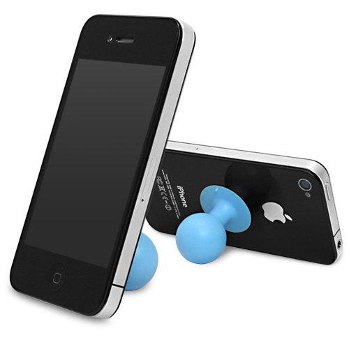 BoxWave Gumball ZTE Fanfare Stand - Colorful Gumball Shaped Suction Cup Stand for the ZTE Fanfare - Anti-Slip Smartphone Stand (Blue Raspberry)