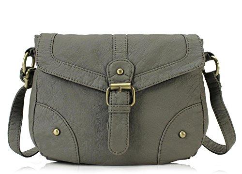 Scarleton Mini Soft Washed Casual Crossbody Bag H187424 - Ash