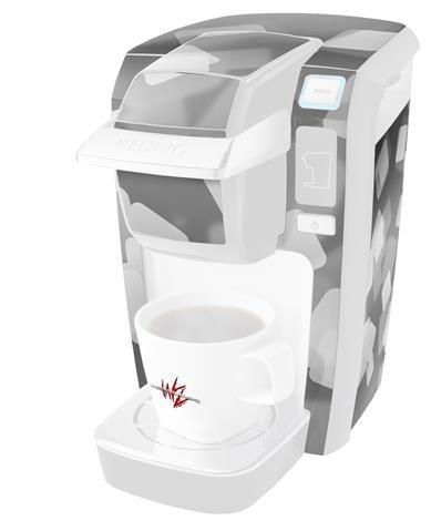 Bokeh Squaredグレー – デカールスタイルビニールスキンKeurig k10 / k15 Mini Plusコーヒーメーカー( Keurigに含まれません   B0181DE96I