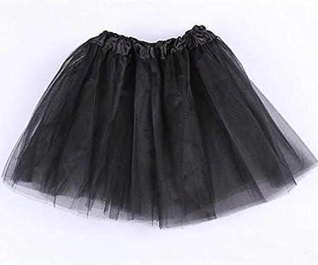 Whobabe Falda de Tul para niñas - Falda de Ballet de Tul Petticoat ...