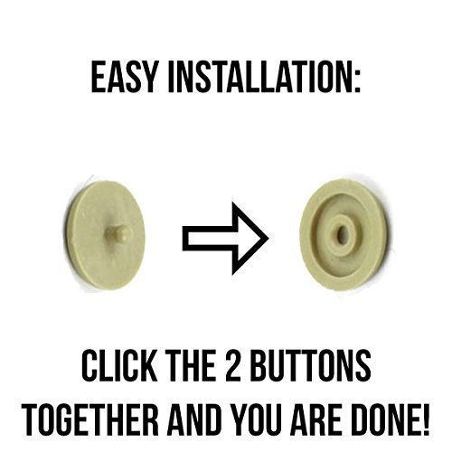 Seat Belt Stop Button Buttons Prevent Seatbelt Buckle from Sliding Down The Belt Set of 4 Plastic Seat-Belt Stopper Clips Snap-On System No Welding Required Beige As Seen on TV