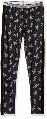 Jessica Simpson Girls' Big Oliver Fun Double Printed Legging, Cats Party, Small