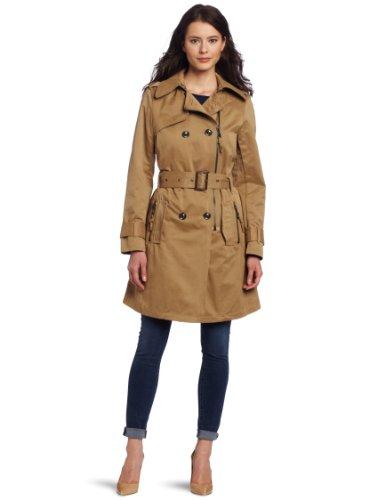G.E.T. Women's Zipper Trench Coat