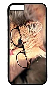 Cute Cat Nice PC Black Case for Masterpiece Limited Design iphone 6 by Cases & Mousepads