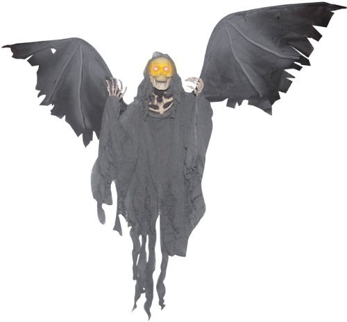 Animated Hanging Grim Reaper Halloween Decoration -