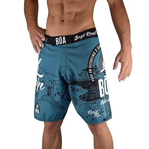 B/õa Road Trip Fight Short de Combat Gris Hombre