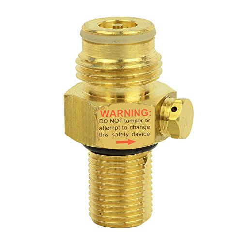 Interstate Pneumatics WRCO2-PV Brass Pin Valve for CO2 Paintball Tank 12 Oz Co2 Tank Cover