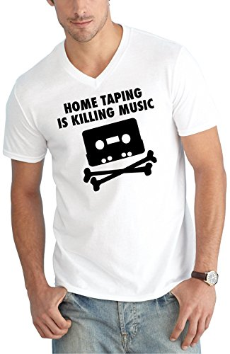 Home Taping V-Neck White Certified Freak