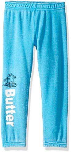 Butter Girls' Big Fleece Varsity Pant, Bayou Blue, -