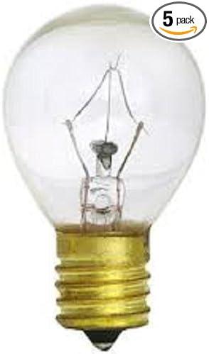 Abe 5pack S11 High Intensity 25 Watt 120v Lava Lamp 25w Light Bulb E17 Int Base Clear Amazon Com