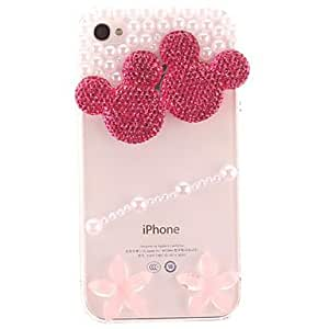 LCJ iPhone 4/4S/iPhone 4 compatible Diamond/Rhinestone Decorated Case Back Cover