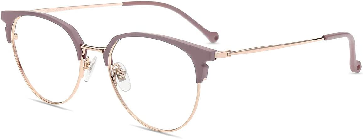 Firmoo Gafas Ordenador luz Azul Mujer Hombre, Gafas Gaming para Antifatiga Anti UV, Gafas protectoras Pantallas Electrónicas, S996 Oro Púrpura