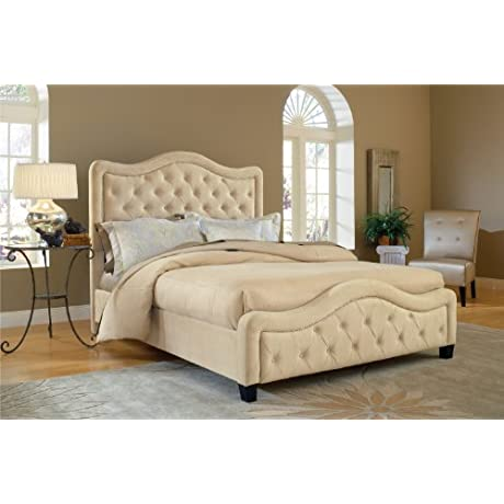 Hillsdale Furniture 1566BQRT Trieste Bed Set With Rails Queen Buckwheat