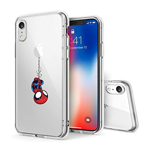 Litech™ Case for Apple iPhone XR (2018) [Flexfit] Comic Super Hero Inspired Series [Premium Scratch-Resistant] (Spider Man) ()