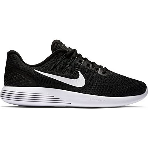 Central Skate Shoes - NIKE Lunarglide 8 Mens Running Trainers AA8676 Sneakers Shoes (UK 6.5 US 7.5 EU 40.5, Black White Anthracite 001)