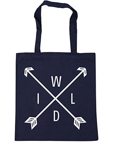 HippoWarehouse Wild flechas Tote Compras Bolsa de playa 42cm x38cm, 10litros azul marino