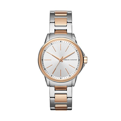 Armani Exchange Women's Quartz Stainless Steel Casual Watch, Color:Rose Gold-Toned (Model: AX4363)