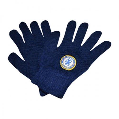Chelsea チェルシー ジュニア用 ベーシック ニット グローブ ブラック / 手袋 B00HKG6BXW
