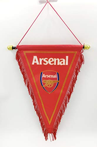 zxtzqw Football Club Fans FC Scarf Hang up a Flag Triangle Flag Bag Glass car Stickers Phone Chain (Triangle Flag-Arsenal) (Arsenal Flag)