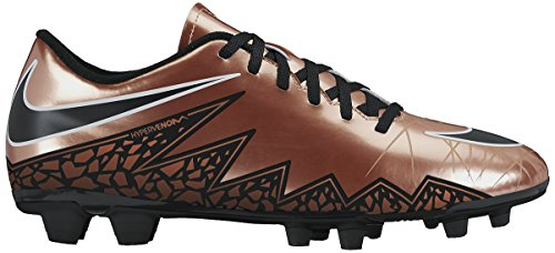 Nike Men's Hypervenom Phade II (FG) Soccer Cleat Red Bronze/Green Glow/Black Size 11.5 M US