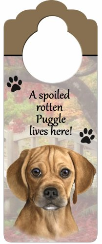 Puggles In Costumes (Puggle Wood Sign