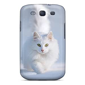 Galaxy S3 Cover Case - Eco-friendly Packaging(cute White Cat)