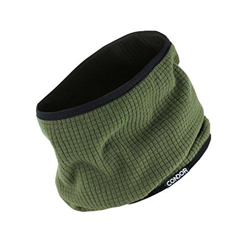 (Condor Reversible Neck Gaiter, GREEN/ BLACK, Neck Cover Warmer, Fleece Face Mask )