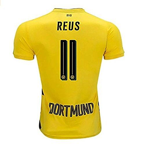 ORSIV Reus #11 Borussia Dortmund Home 17-18 Soccer Jersey Men's Color Yellow Size L