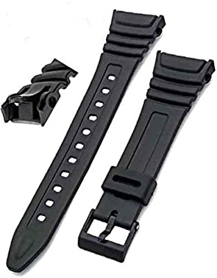 Watch Replacement Strap Band Flexible Black Resin to fit Casio W96 W-96H W96H 577EA1 from Unbranded/Generic