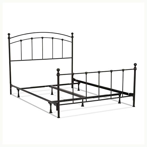 HEATAPPLY Queen Size Complete Metal Bed Frame with Round Final Posts Headboard and Footboard
