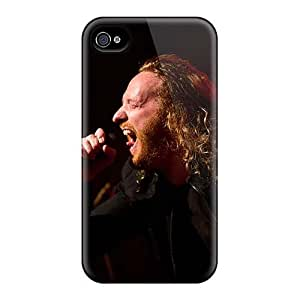 Scratch Protection Hard Phone Covers For Iphone 4/4s (Wah4099hyKq) Unique Design Attractive Dark Tranquility Band Series