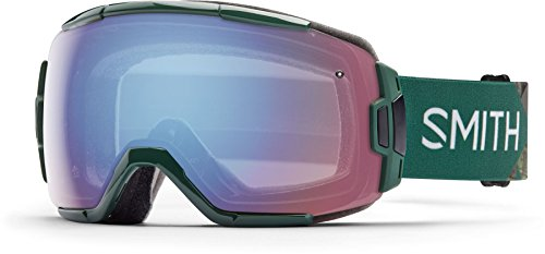 - Smith Optics Vice Adult Spherical Series Snow Snowmobile Goggles Eyewear - Green Obscura/Blue Sensor Mirror/Medium