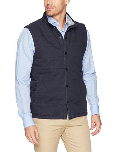 Unionbay Men's Flannel Lined Canvas Vest, Twilight, Medium