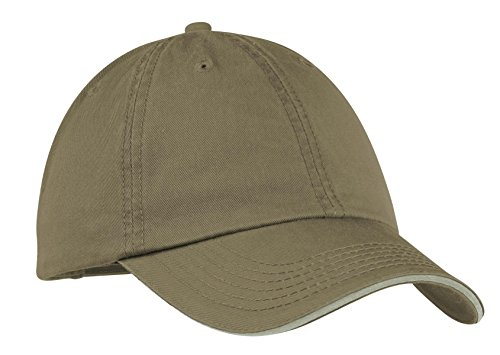Port & Company Men's Washed Twill Sandwich Bill Cap OSFA ()