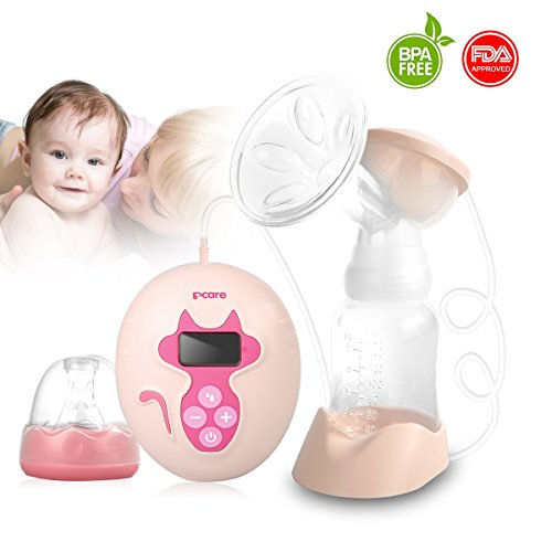 Portable Electric Breast Pump, comfort and convenience-Pink