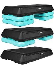 SportVida Stepbank voor aerobic, stepbank voor fitness, 70 x 36 cm, in hoogte verstelbare stepper voor thuis en buiten, met 3 standen (10/15/20 cm) - antislip oppervlak
