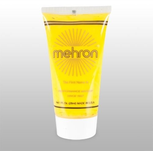 Collor Yellow >> Mehron FFX Fantasy F/X Costume Makeup - 1 oz. Tube - Halloween or Face -