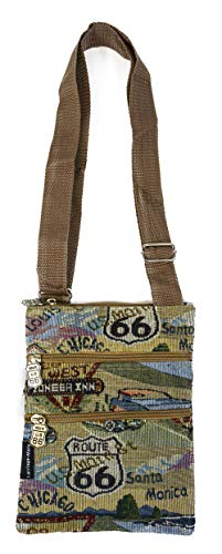 Route 66 Canvas Crossbody Bags