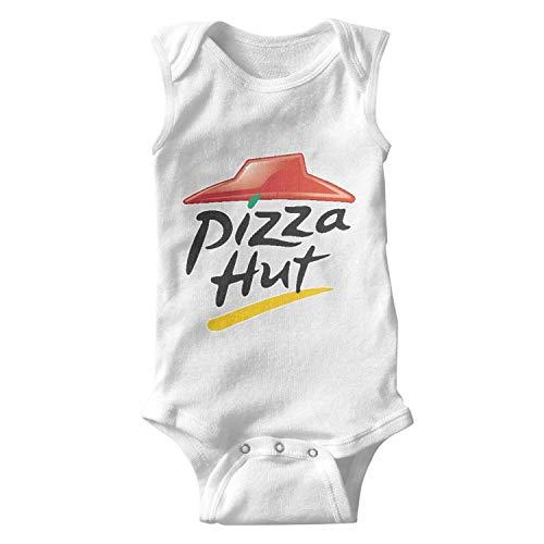 (YJRTISF Unisex Baby Comfortable Sleeveless Bodysuits Pizza-Hut-Logo- Summer)