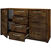WOOD Sideboard with different size units