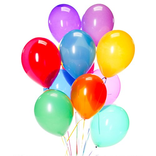 AZOWA 100 Pcs Colorful Party Balloons Assorted Latex Balloons Party, Baby Shower, Birthday Party, Wedding Shower Decorations (Birthday Balloons Near Me)