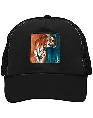 Unisex Watercolor Tiger Adjustable Classic Hiphop Hat Baseball Cap Snapback Dad Hat