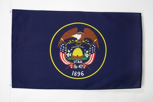 UTAH FLAG 3' x 5' - US STATE OF UTAH FLAGS 90 x 150 cm - BANNER 3x5 ft - AZ FLAG