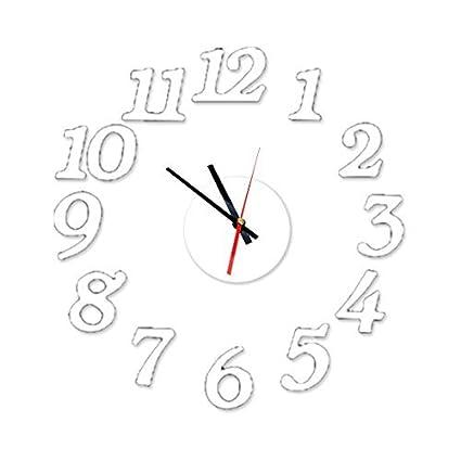 eDealMax EVA DIY 3D Tiempo de pared del número del reloj del arte de la etiqueta ...