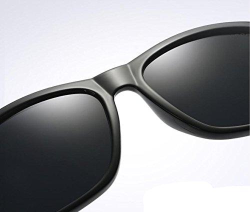Black Gafas Sol Metal Gafas Unisex Polarizadas De Colorido Moda De wZFqRwP