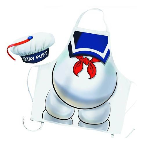 GHOSTBUSTERS STAY PUFT APRON & CHEF HAT by (Stay Puft Hat)