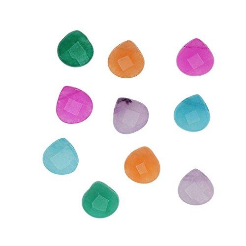 Pink Jade Heart Beads - 4