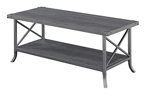 (Convenience Concepts Brookline Coffee Table, Charcoal Slate Gray Frame)