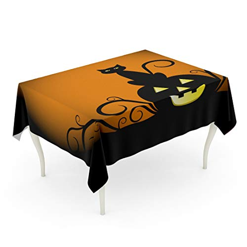 Tarolo Rectangle Tablecloth 52 x 70 Inch Orange